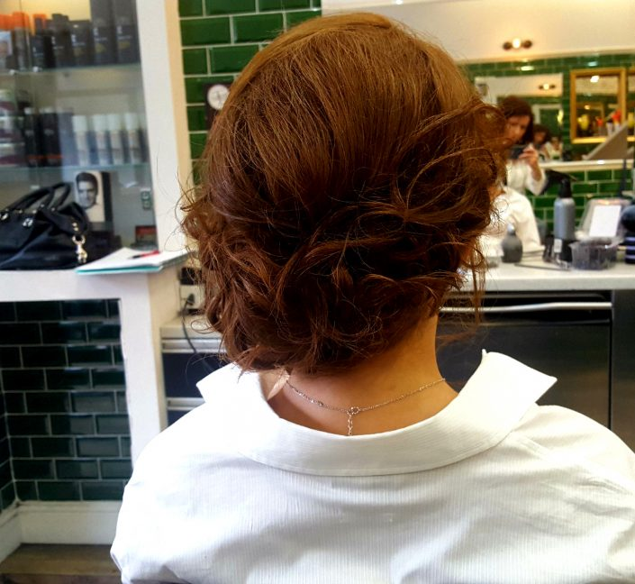 Hair up for a smart event, party or wedding